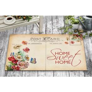 Sweet Home Post Card Tasarım Kapı Önü ve Ev İçi Paspas 45x75 cm