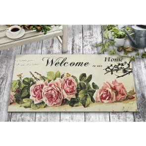 Vintage Welcome Tasarım Kapı Önü ve Ev İçi Paspas 45x75 cm
