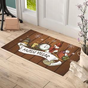 Mutlu Yıllar Eğlence Tasarım Kapı Önü ve Ev İçi Paspas 45x75 cm