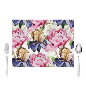 Sulu Boya Çiçek Tasarım Amerikan Servis 40x30 cm