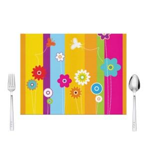 Renkli Şeritler Tasarım Amerikan Servis 40x30 cm