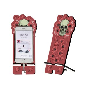 Kuru Kafa Tasarım Ahşap Telefon Standı