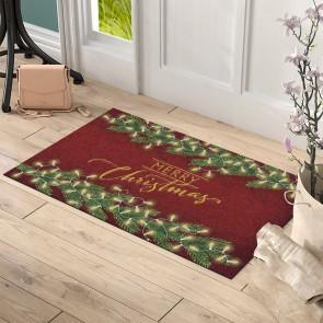 Işıklı Merry Christmas Tasarım Kapı Önü ve Ev İçi Paspas 45x75 cm