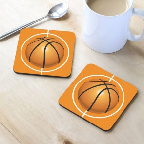 Basketbol Tasarım MDF Bardak Altlığı 10x10 cm