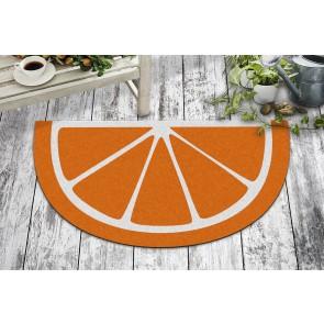 Portakal Baskılı Tasarım Kapı Önü ve Ev İçi Paspas 40x70 cm Yarım Ay