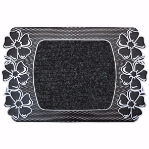Papatya Kapı Önü Paspas Halılı 40x70 cm Gümüş