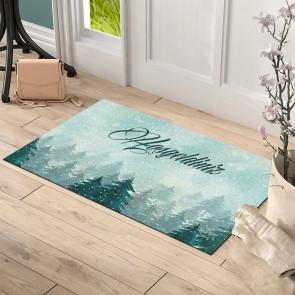Hoşgeldiniz Çam Ağacı Tasarım Kapı Önü ve Ev İçi Paspas 45x75 cm