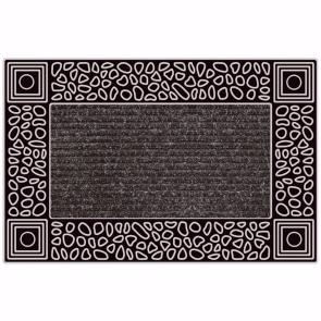 Çakıl Kapı Önü Paspas Halılı 45x70 cm Gümüş