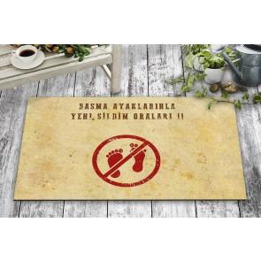 Anne Sözleri Tasarım Kapı Önü ve Ev İçi Paspas 45x75 cm