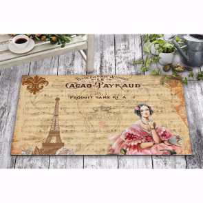 Fransa Nota Tasarım Kapı Önü ve Ev İçi Paspas 45x75 cm