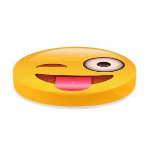 Şımarık Emoji Tasarım Daire Minder Ø40