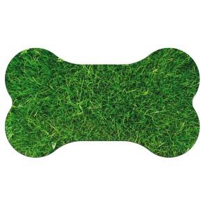 Çimen Tasarım Baskılı Evcil Hayvan Mama Paspası