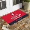 Kişiye Özel Tasarım Kırmızı Eczane  Kapı Önü ve Ev İçi Paspas 45x75 cm