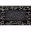 Müzik Kapı Önü Paspas 45x70 cm Gümüş
