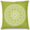 Yeşil Mandala Kırlent Yastık 40x40 cm