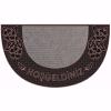 Bahar Kapı Önü Paspas Yarımay Halılı 40x70 cm Bronz