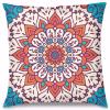 Renkli Mandala Tasarım Kırlent Yastık 40x40 cm
