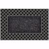 Rattan Kapı Önü Paspas Halılı 45x70 cm Gümüş