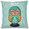 Boy Baykuş Tasarım Kırlent Yastık 40x40 cm