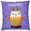 Happy Baykuş Tasarım Kırlent Yastık 40x40 cm