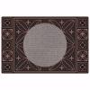 Yonca Kapı Önü Paspas Halılı 45x70 cm Bronz