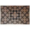 Floral Barok Kapı Önü Paspas Halısız 45x70 cm Bronz