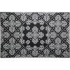 Floral Barok Kapı Önü Paspas Halısız 45x70 cm Gümüş