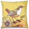 Sarı Kuş Home Tasarım Kırlent Yastık 40x40 cm