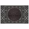 Yonca Kapı Önü Paspas Halılı 45x70 cm Gümüş