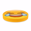 Çok Mutlu Emoji Tasarım Daire Minder Ø40