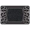 Flower Kapı Önü Paspas Halılı 45x70 cm Gümüş