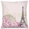 Vintage Paris Tema Tasarım Kırlent Yastık 40x40 cm