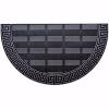 Elegance Kapı Önü Paspas Yarımay Halısız 40x70 cm Gümüş