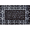 Modern Kapı Önü Paspas Halılı 45x70 cm Gümüş