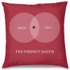 The Perfect Match Tasarım Kırlent Yastık 40x40 cm