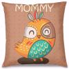 Mommy Baykuş Tasarım Kırlent Yastık 40x40 cm