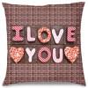 I Love You Çikolata Tasarım Kırlent Yastık 40x40 cm